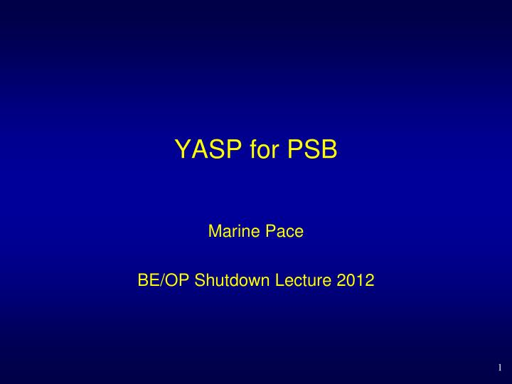 yasp for psb n.