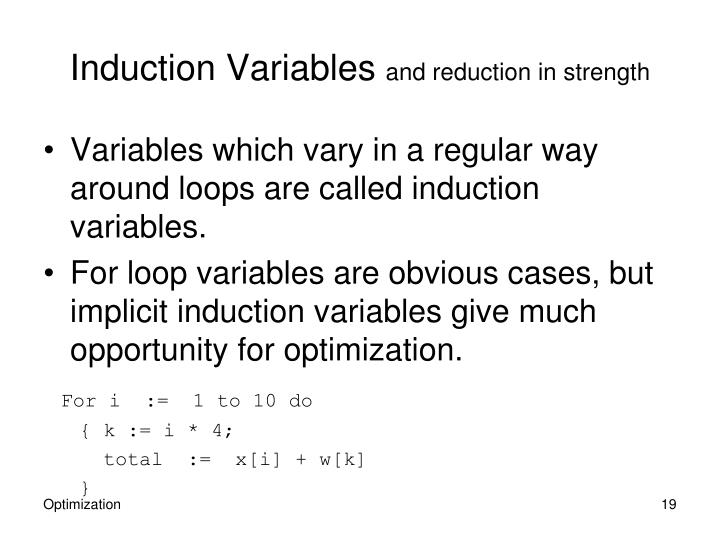 Induction Variables