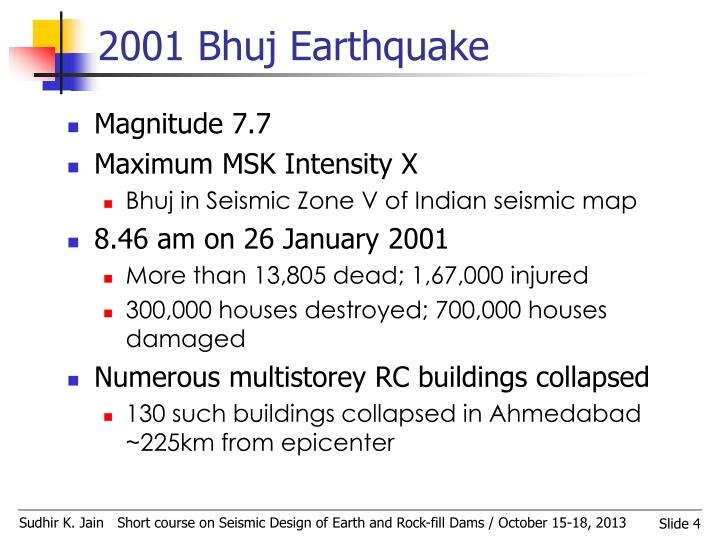 2001 Bhuj Earthquake
