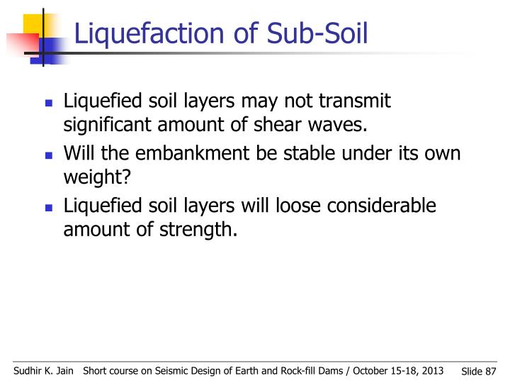 Liquefaction of Sub-Soil