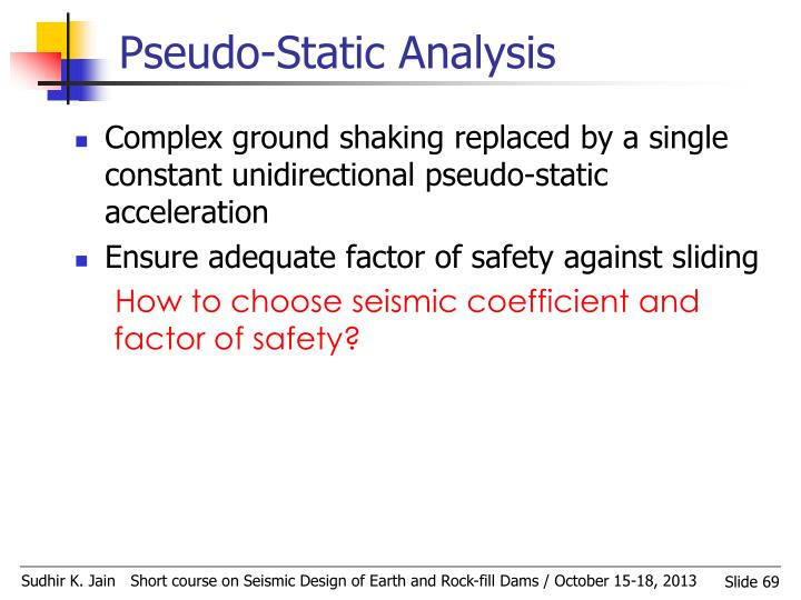 Pseudo-Static Analysis