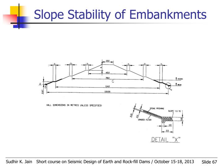 Slope Stability of Embankments