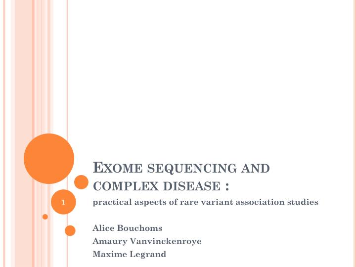 exome sequencing and complex disease n.