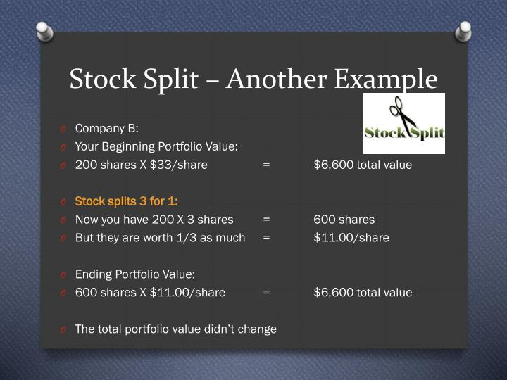 Stock Split – Another Example