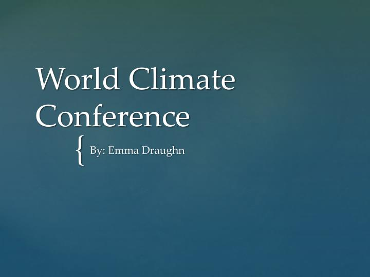 world climate conference n.