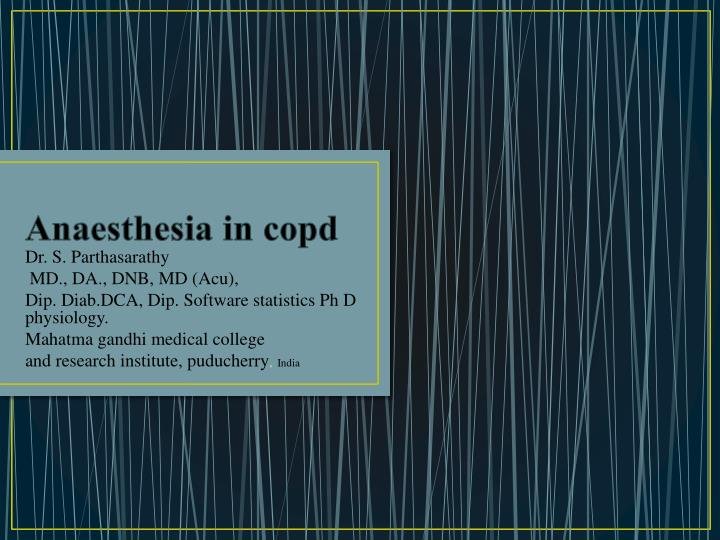anaesthesia in copd n.