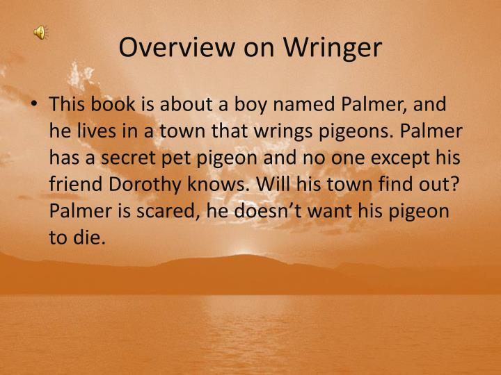 Overview on Wringer