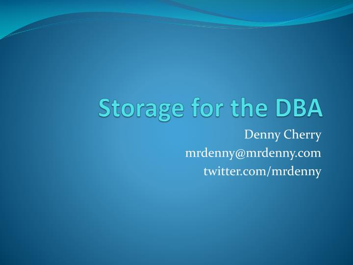 storage for the dba n.