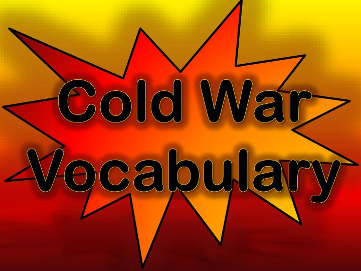 Cold war vocabulary
