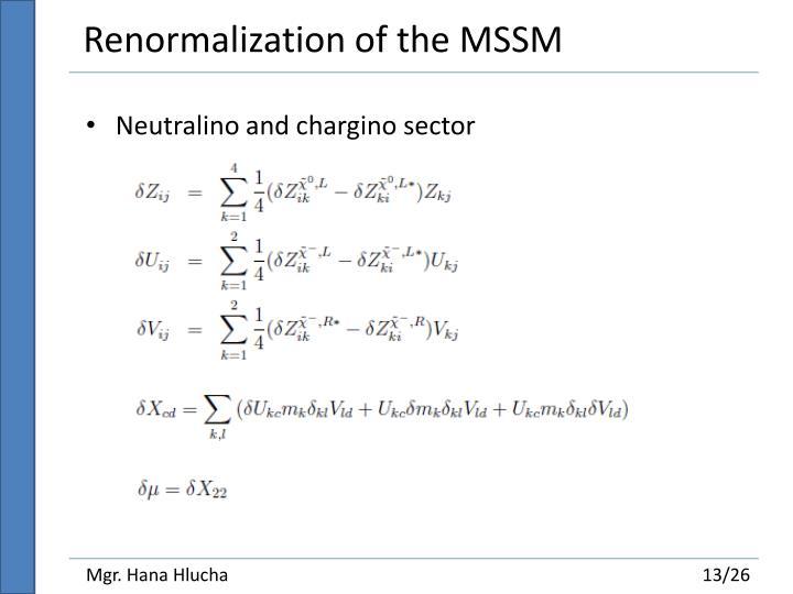 Renormalization of the MSSM