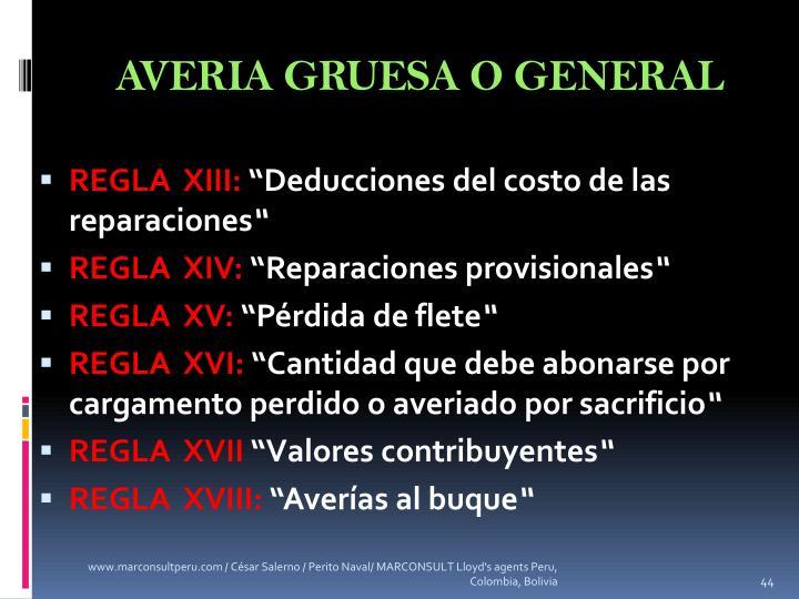 AVERIA GRUESA O GENERAL