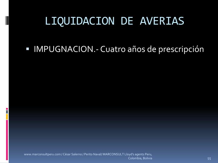LIQUIDACION DE AVERIAS