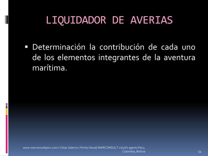 LIQUIDADOR DE AVERIAS