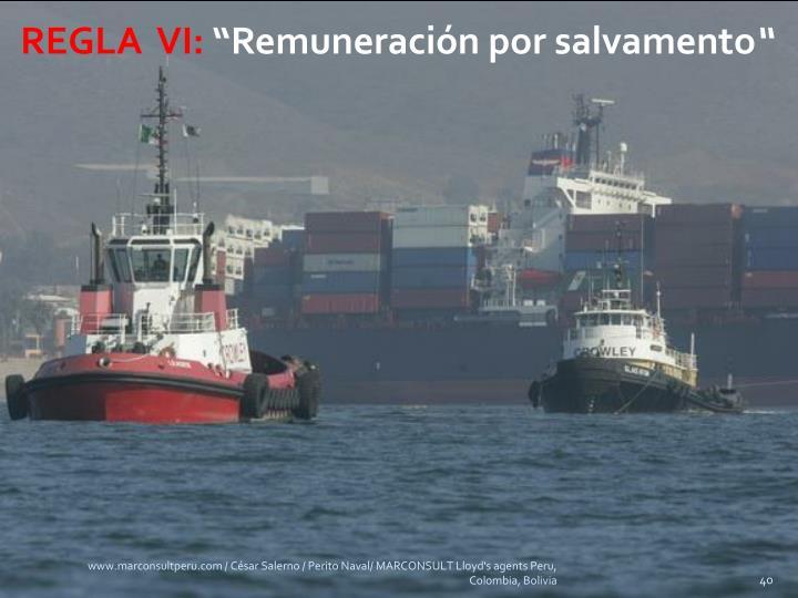 REGLA  VI: