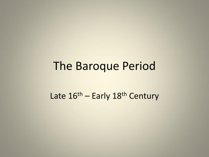 the baroque period n.