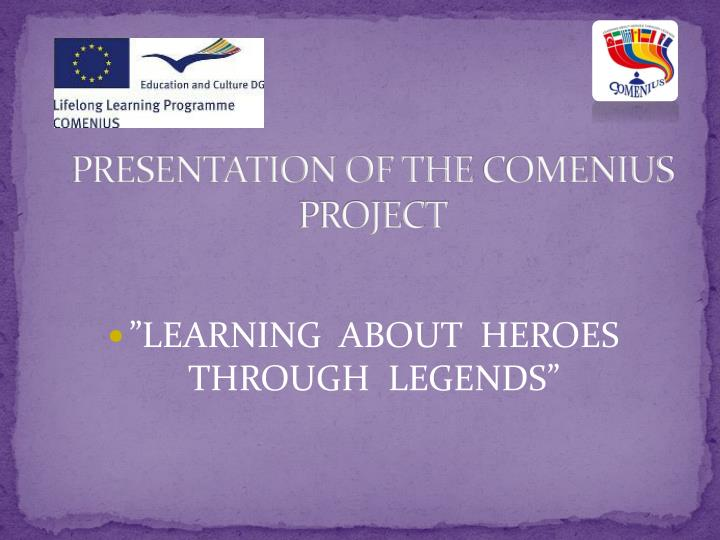 presentation of the comenius project n.