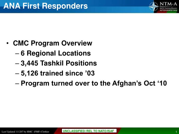 Ana first responders