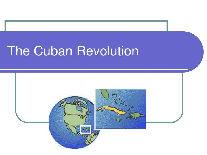 the cuban revolution n.