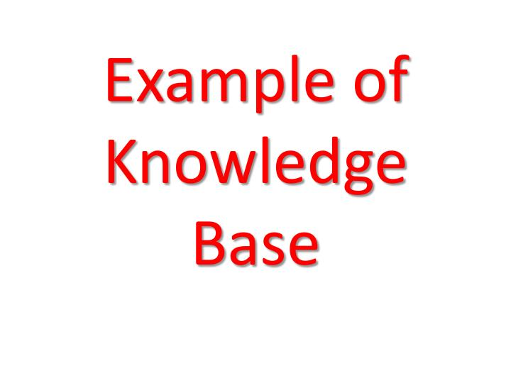 example of knowledge base n.
