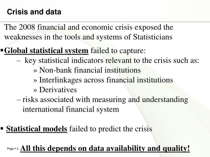 Crisis and data