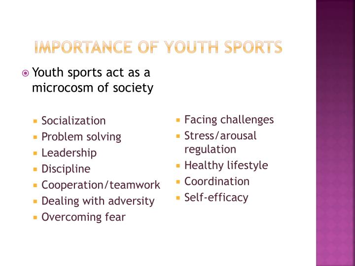 Importance of youth sports