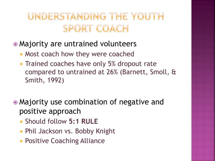 Understanding the youth sport coach