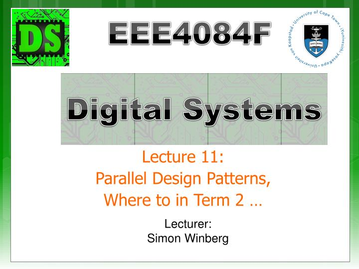 lecture 11 parallel design patterns where to in term 2 n.