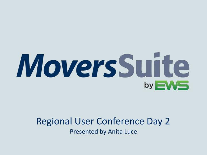 regional user conference day 2 n.