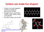 carbon can make fun shapes