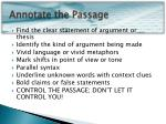 annotate the passage