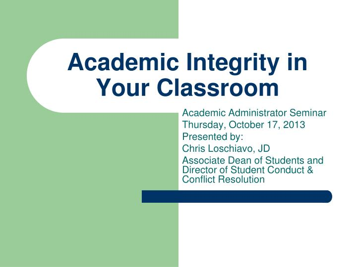 academic integrity in your classroom n.