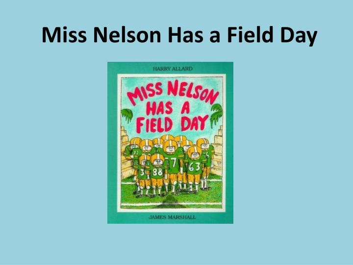 miss nelson has a field day n.