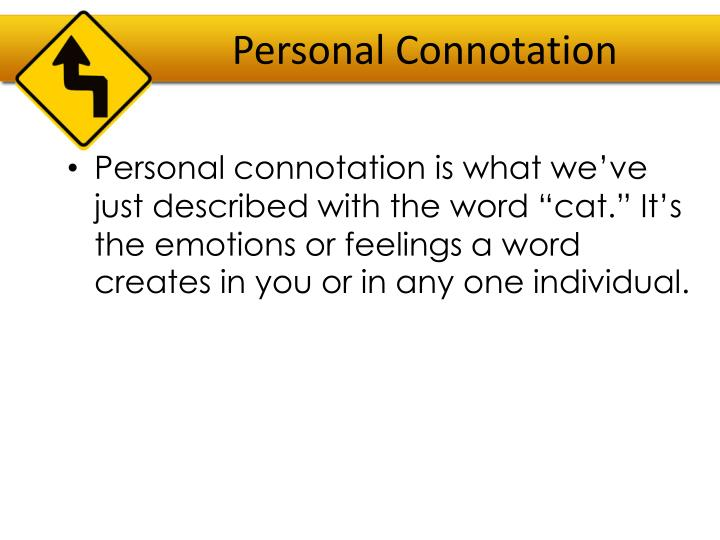 Personal Connotation