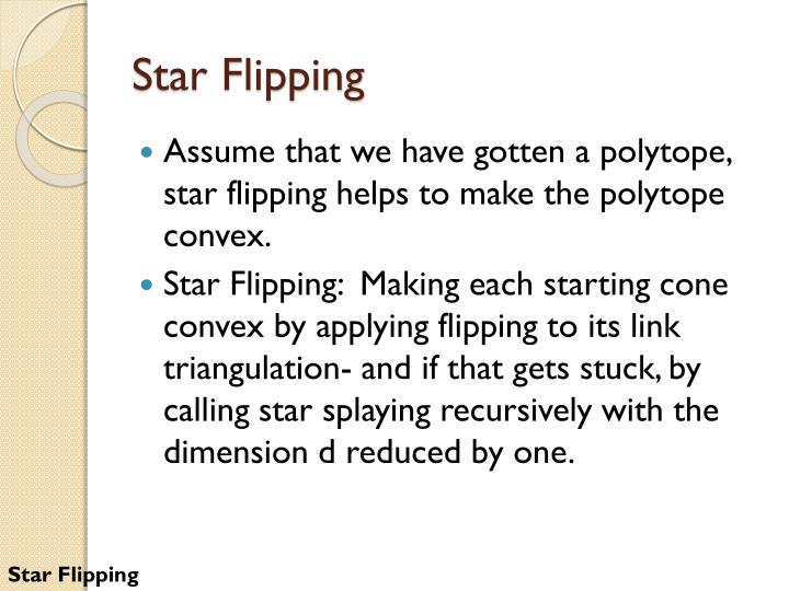 Star Flipping