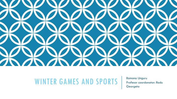winter games and sports n.