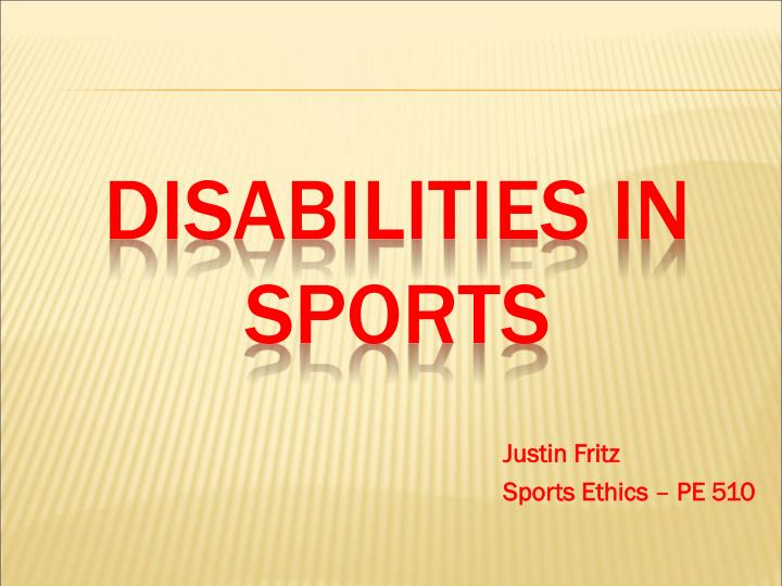 disabilities in sports n.