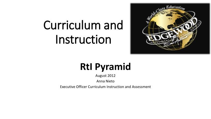 Ppt Curriculum And Instruction Powerpoint Presentation Id2016732
