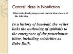 central ideas in nonfiction1