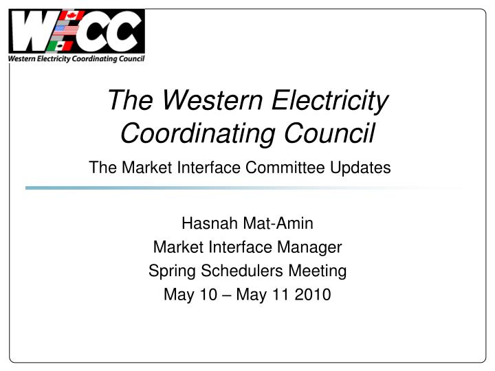 the western electricity coordinating council n.