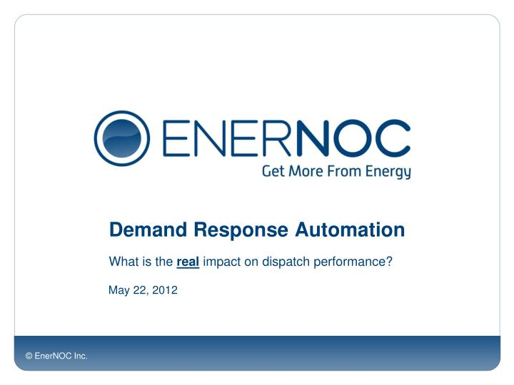 demand response automation n.