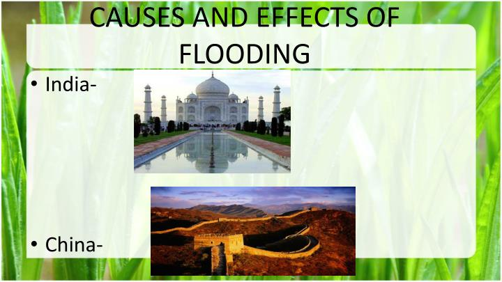 CAUSES AND EFFECTS OF