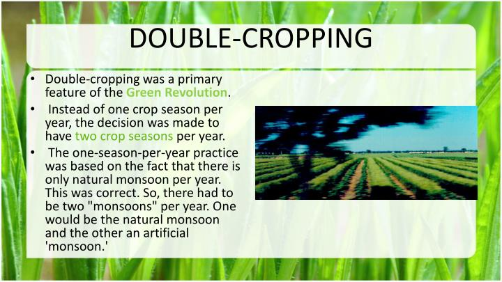 DOUBLE-CROPPING