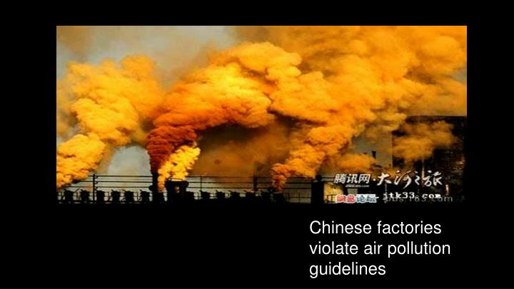 Chinese factories violate air pollution guidelines