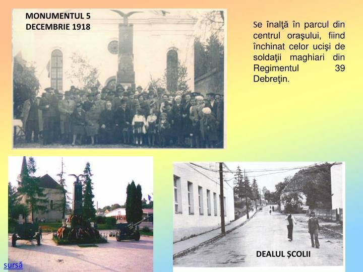 MONUMENTUL 5 DECEMBRIE 1918