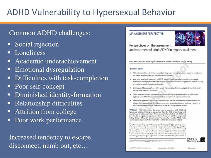Hypersexual behavior adhd