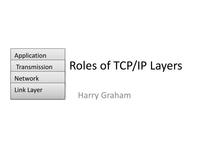 roles of tcp ip layers n.