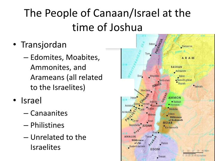 the people of canaan israel at the time of joshua n.