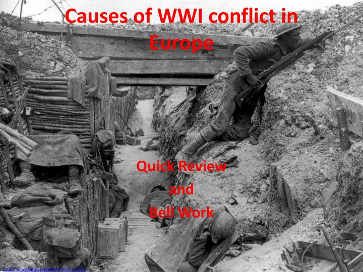 causes of wwi conflict in europe n.