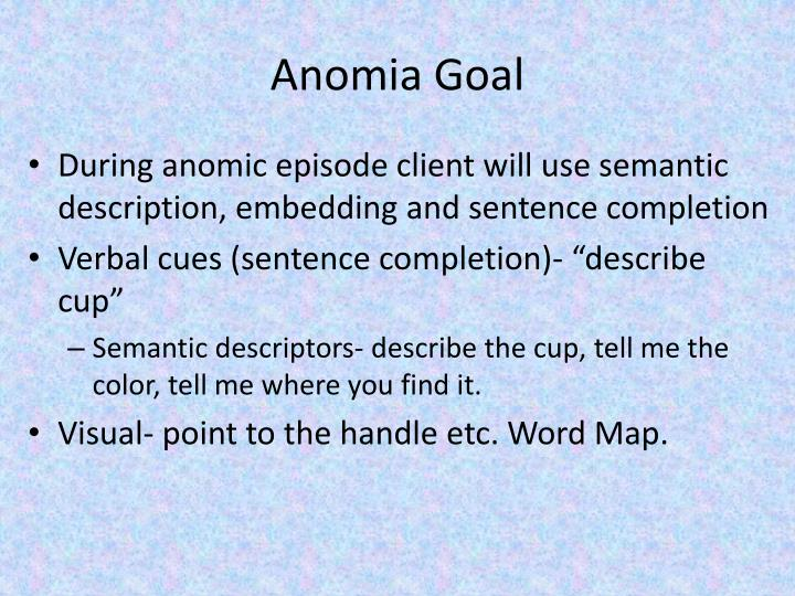 Anomia Goal