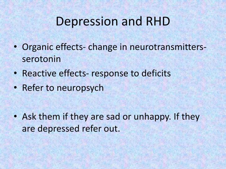 Depression and RHD